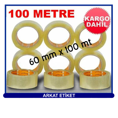Baskısız Koli Bandı ( 60 mm x 100 mt ) HOT-MELT